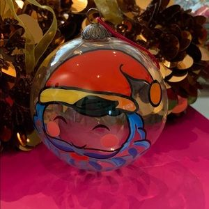 Other - Hand painted glass ornament